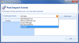 Import Manager Post Events automatic scheduling